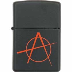 ZO20842  Zippo Anarchy Lighter. Black m